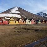 Färgglada hus. Longyearbyen