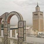 Vy från Stora moskén. Tunis (U)