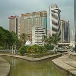 Centrala staden. Kuala Lumpur