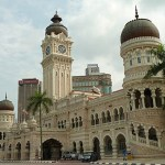 Sultan Abdul Samads palats. Kuala Lumpur