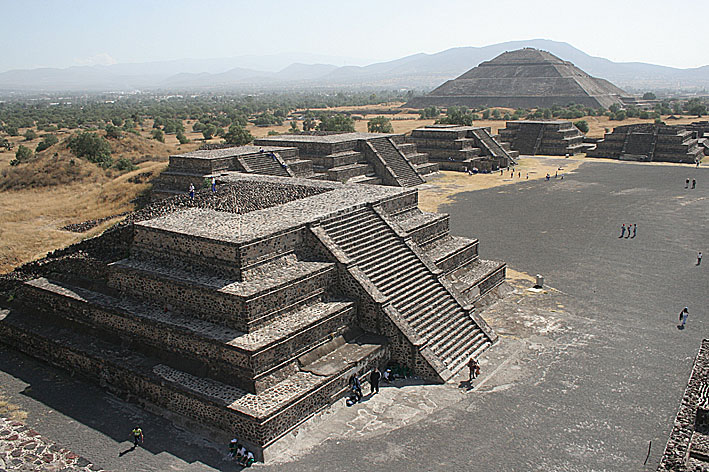 Pyramider. Tetiohuacan. Mexiko (U)