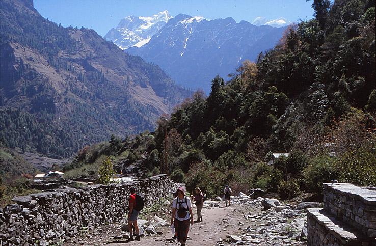 Nära byn Chame