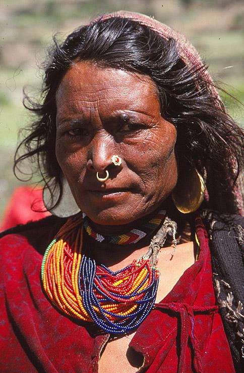 Thakuri kvinna. Humla Valley. Nepal