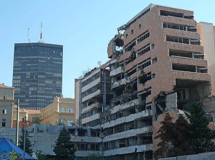 Bombat hus. Belgrad