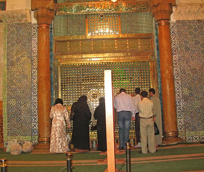 Män och kvinnor separeras. Ummayyad Moskén. Damaskus (U)