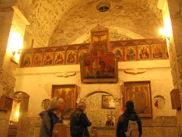 St Sergius kyrkan från 300-talet. Maalula