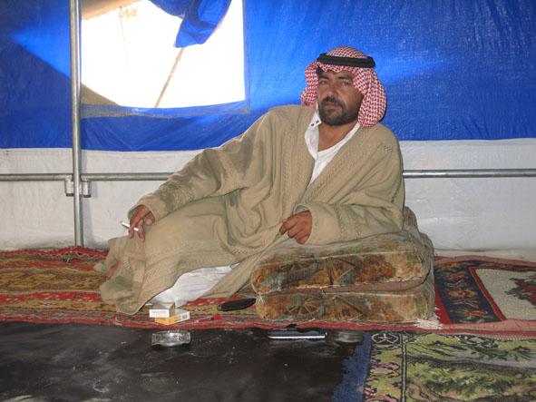 Hos beduinfamilj. Palmyra
