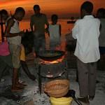 Gaturestaurang. Zanzibar