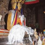 Buddhastaty. Jokhangtemplet. Lhasa