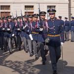 Militärceremoni. Borgen. Prag