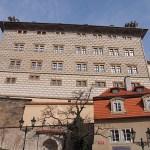 Hus nära Borgen. Prag