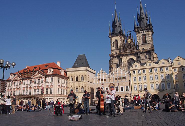 Gamla staden. Prag. Tjeckien