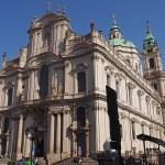 St Nicholas kyrkan. Prag