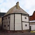 Äldsta korsvirkehuset, 1300-talet. Quedlingburg, Tyskland (U)
