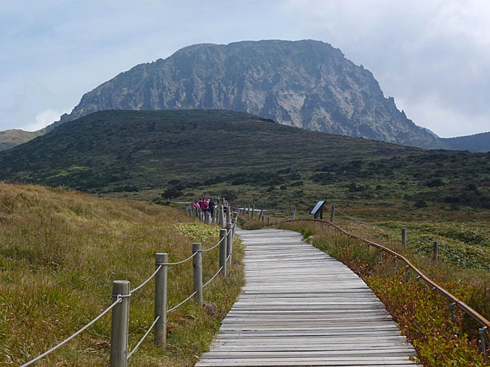 Mt Hallasan, Koreas högsta berg.