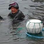 73-årig kvinnlig dykare. Ilchulbong