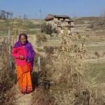 Kvinna på landsbygd. Changu