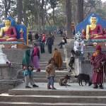 Vägen till Swayambhunath