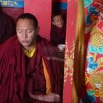 Munk i bön. Swayambhunath