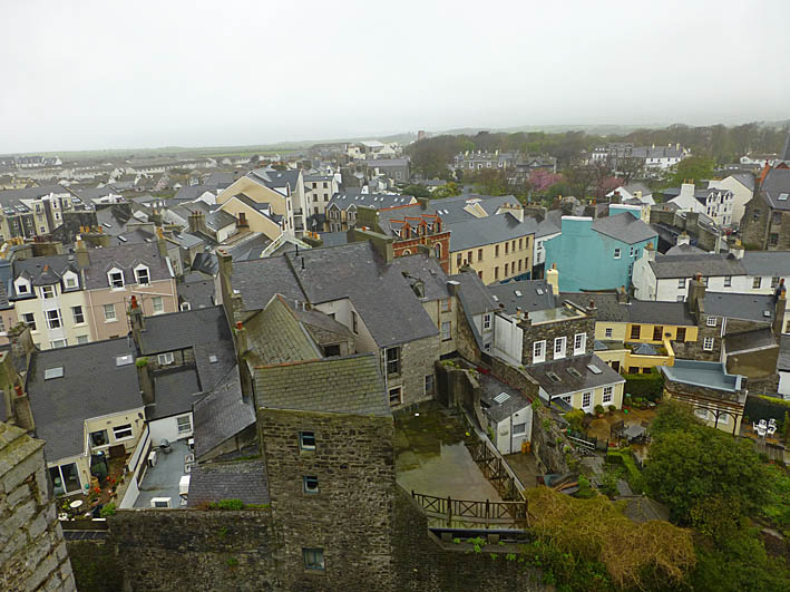 Vy över staden. Castletown