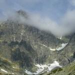 Berget Lomnicky stit, 2 634 möh. Höga Tatra