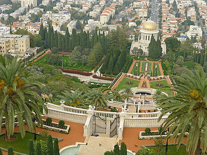 Bahaitemplet, Haifa. (U)