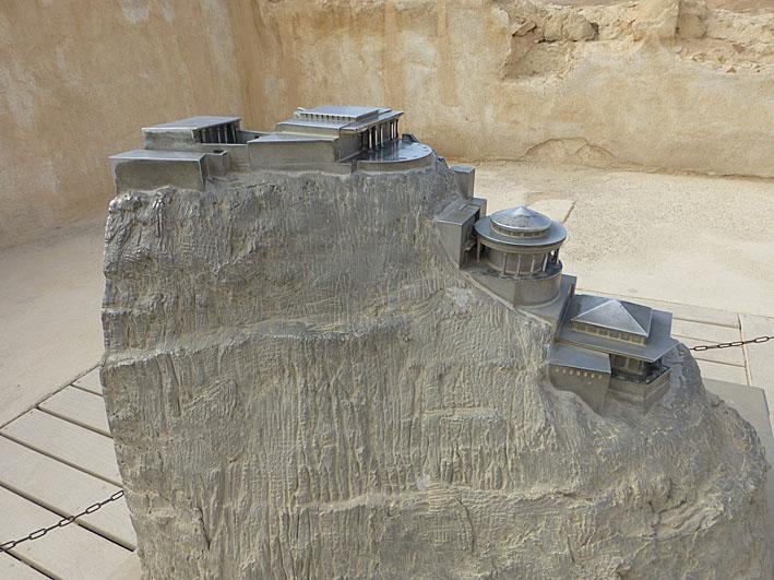 Modell av Herodes sommarpalats. Masada (U)
