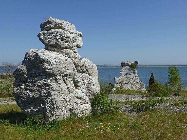 Cykla på Gotland. Raukar. Kyllaj