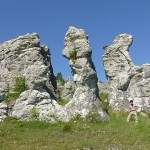 Raukar. Lergrav. Gotland