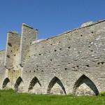 Del av ringmuren. Visby (U). Gotland