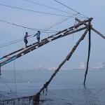 Kinesiska fiskenät. Fort Kochi