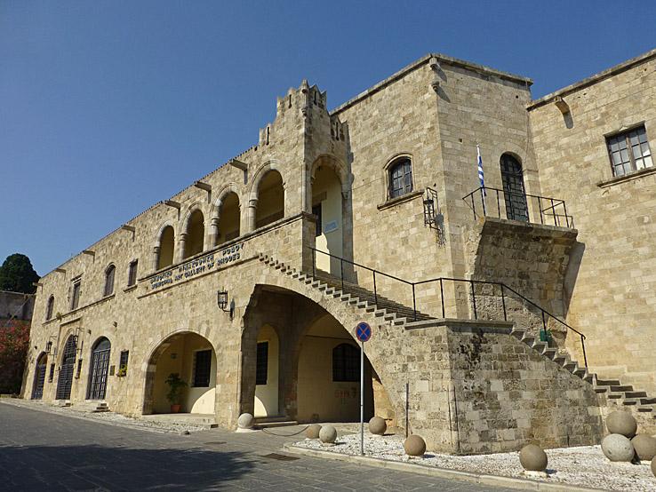 Byggnad från 1400-talet. Gamla staden. Rhodos stad