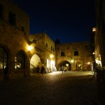 Kvällsvy från Rhodos gamla stad (U)