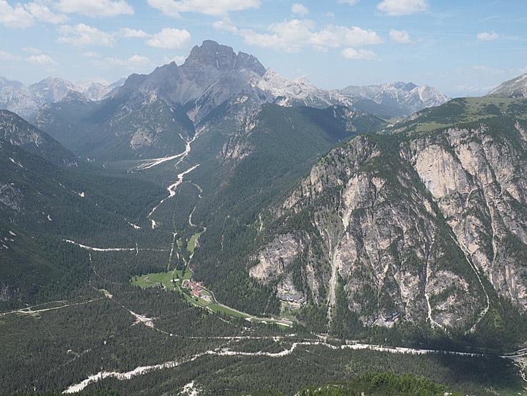 Vy från Monte Piana. Dolomiterna (U)