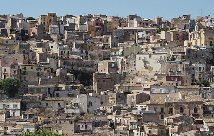 Vy över Ragusa Ibla