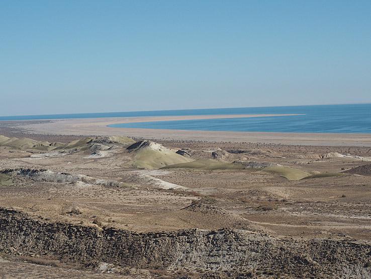 Vy över Aralsjön