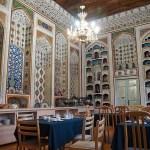 Matsalen på Lyabi House. Bukhara