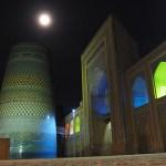 Kalta Minor, Den korta minareten, i månljus. Khiva (U)