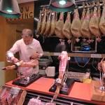 Den iberiska skinkan är mycket populär. Madrid