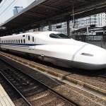 Flera resor med snabbtåget Shinkansen.