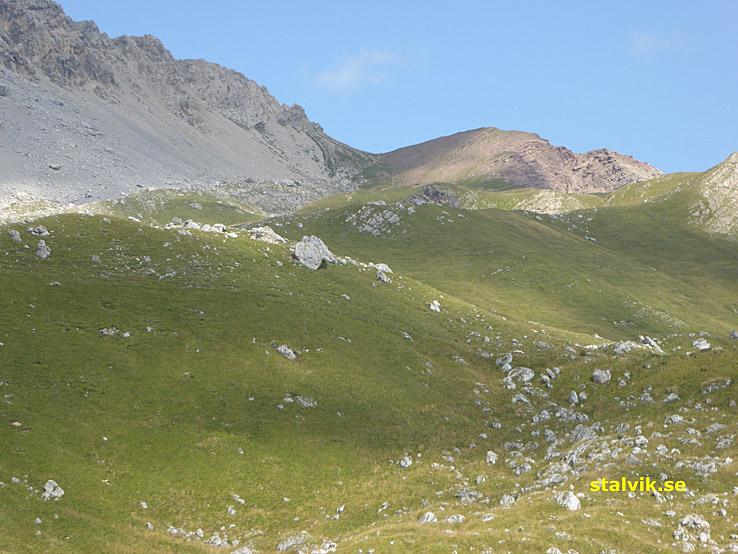Vy över passet Forca Rossa, 2 490 möh (U)