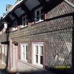 Skifferklätt korsvirkeshus. Goslar