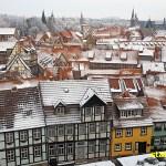 Vy över Quedlinburg från Schlossberg