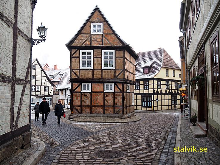 Korsvirkeshus på Lange Gasse. Quedlinburg