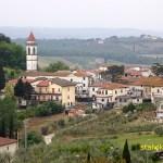 Vy över byn Cerreto Guidi