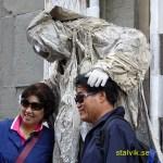 """""""Välsignande"""" av turister. Florens"""