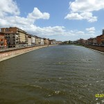 Floden Arno. Pisa