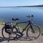 Cykla Gråbobanan. Vy över sjön Mjörn