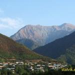 Typiskt landskap i norra Azerbajdzjan