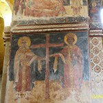 Under pelaren finns Jesus mantel. Svetitschovelikatedralen. Mtscheta. Georgien (U)